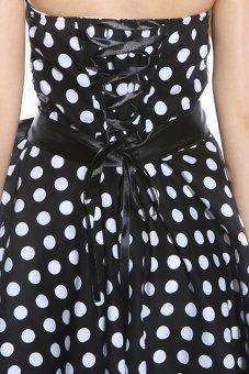 Hequ Polka Dot Print Party Dress (Black) - picture 2