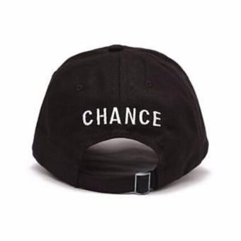 Hequ Popular chance the rapper Hat Cap Black Letter Embroidery Baseball Cap Hip Hop Streetwear Strapback chic style Black - intl - 2