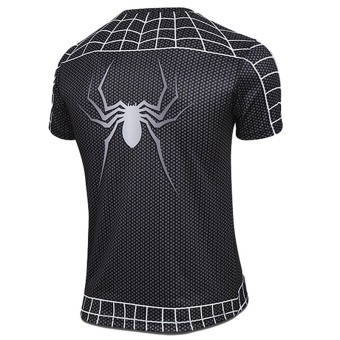 Hequ Spider Man 2 Short Sleeved T-shirt (Black) - 2