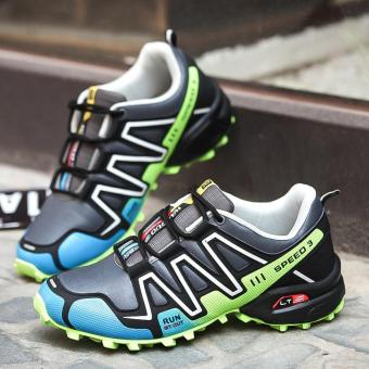 High-comfort Trail Running Shoes For Men Speed 3 Sport Shoes CrossCountry Outdoor Shoes Sneakers Running Hombre Jogging Shoes (Green)- intl - 2