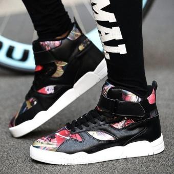 High Cut Men's Casual Skateboard Shoes Fashion Men Hip-hop SkateShoes Flat Shoes (Multicolor) - intl - 5