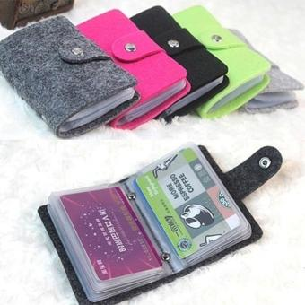 High Quality Store New Vintage Style Pouch ID Credit Card WalletCash Holder Organizer Case Box Pocket Card Holder Green - 2