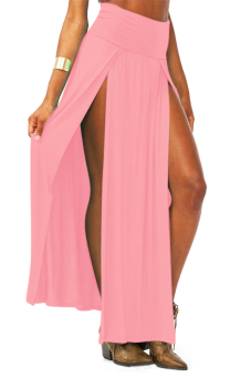 High Waisted Maxi Skirt (Pink)