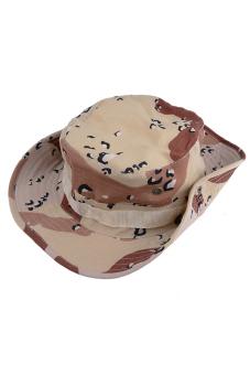 Hiking Snap Brim Military Hat (Brown)