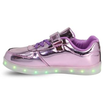 Hk Bubugao 1122 Deluxe Fashion Sports Dancing LED Lightning Girl's Sneaker Shoes (Violet) - 3