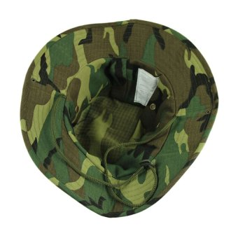 HKS Fishing Hiking Snap Brim Military Bucket Sun Hat Cap Woodland Camo New Green - Intl - picture 2