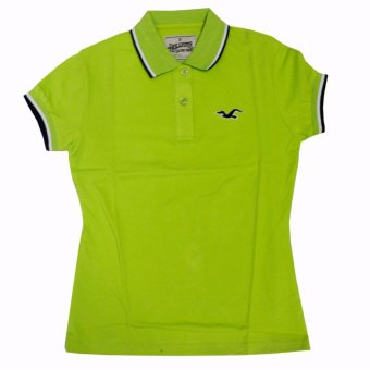 Hollister Couple Polo Shirt(Lime Green) - 2