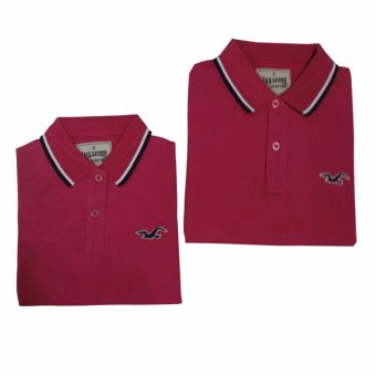 Hollister Couple Polo Shirt(Pink)