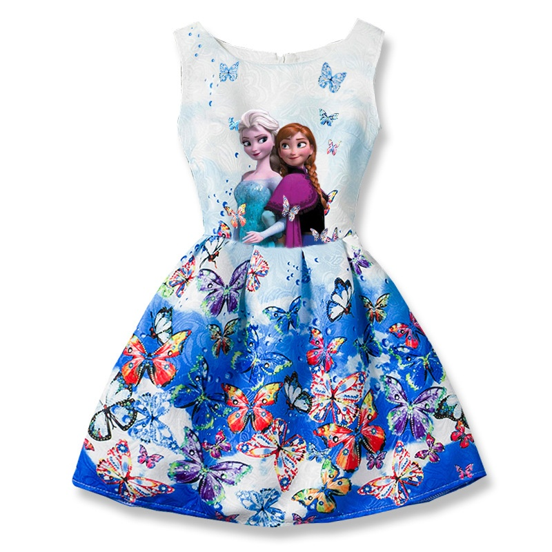 ... HOT 2017 Elsa Dress Girl Dresses For Girls Snow Queen Teenagers Butterfly Print Party Dress Anna ...  sc 1 st  Life Hacker - Electrical Fire Safety Fixtures u0026 Plumbing Hand ... & Philippines | HOT 2017 Elsa Dress Girl Dresses For Girls Snow Queen ...