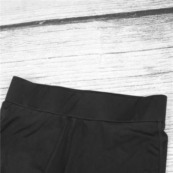Hot Fashion Workout Training High Waist Mesh Leggings RunningSporty Style Fitness Women Sport Slim Women Yoga Pants HarajukuSummer Black Sexy Leggings Push Up Fitness Gym Clothes - intl - 4
