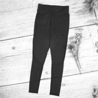 Hot Fashion Workout Training High Waist Mesh Leggings RunningSporty Style Fitness Women Sport Slim Women Yoga Pants HarajukuSummer Black Sexy Leggings Push Up Fitness Gym Clothes - intl - 3