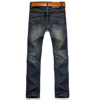 Hot Sale Jeans Men's Fashion Jeans Brand Men's Pants(Blue) - 4