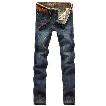 Hot Sale Jeans Men's Fashion Jeans Brand Men's Pants(Blue)