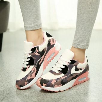 Hot Women Lady Girl Spring Autumn Camouflage Patterns JoggingSports Running Casual Fitness Sneakers Shoes Chinese Size 35-39(Pink) HZ252 - 3