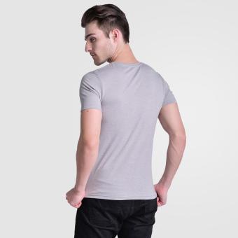 Huga Activewear Grey V-Neck Tee - 5