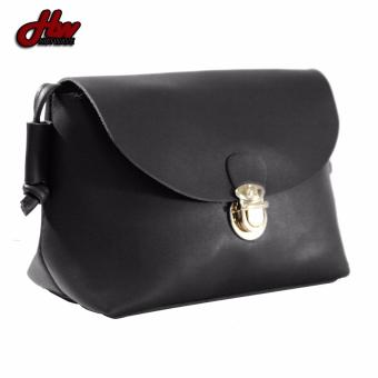 HW Mini Leather Casual Sling Bag (Black) - 3