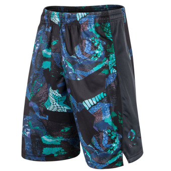 I kb24 serpentine camouflage Basketball Training shorts (KB serpentine black blue)