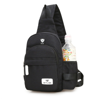 I outdoor cross-body riding bag New style chest pack (Black)