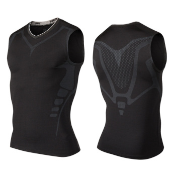 I serpentine camouflage basketball slim fit vest (Elite black sleeveless)