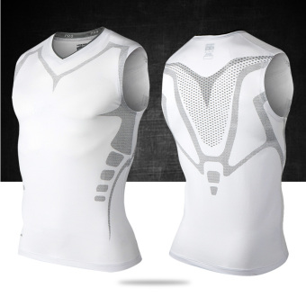 I serpentine camouflage basketball slim fit vest (Elite white sleeveless)