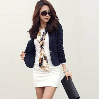 Jo.In New Women OL Coat Lapel One Button Long Sleeve Short Suit Blazer Outerwear 5 Colors - intl Price Philippines