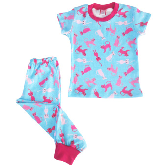Aqua Cat Pajama Set for Girls Price Philippines