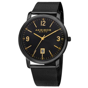 Harga Akribos XXIV Omni Men's Black Stainless Steel Strap Watch AK858BK