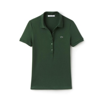 LACOSTE MONOTONE 5 BUTTONS FOR WOMEN (MOSS GREEN) Price Philippines
