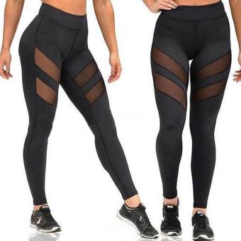 Jo.In New Fashion Womens Mesh Sports Yoga Hollow Out Patchwork Long Leggings Pants - intl Price Philippines