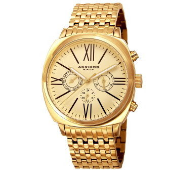 Harga Akribos XXIV Men's Yellow Gold Stainless Steel Strap Watch AK636YG