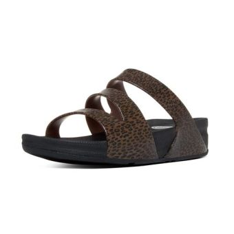 Harga Fitflop Women's Superjelly Twist Leopard Slippers (Cheetah Brown)