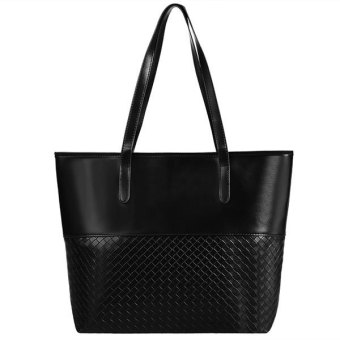 Harga Astar Fashion Women Elegant Large Capacity Solid Shoulder Bags Handbag Casual Tote (Black)