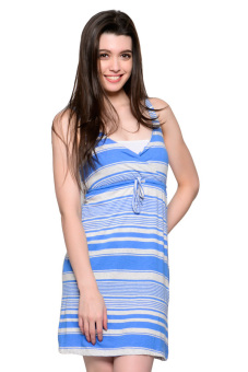 French Dolls Casual Stripes Dress (Blue) Price Philippines