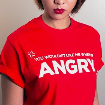 Harga Rappler Xchange Angry Cotton T-Shirt (Red)