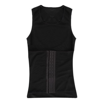 Harga OH Men's Best Corset Body Waist Tummy Slim Shaper Vest Girdle (Black)