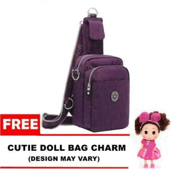 Harga Skadi 2016 893 Shoulder Bag (Purple) with FREE Bag Charm