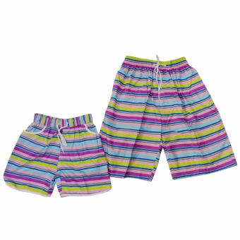 Summer Couple Casual Shorts Beach Wear Swim Wear(Purple) Price Philippines
