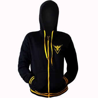 POKEMON GO Master Team Instinct Pokemon Anime Unisex Zip-Up Outdoor Cosplay Hoodie Jacket (Black/ Yellow) Price Philippines