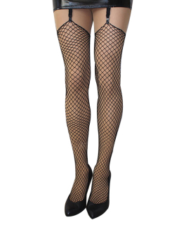 Harga Women's Sexy Fishnet Thigh High Stocking 7986 Black