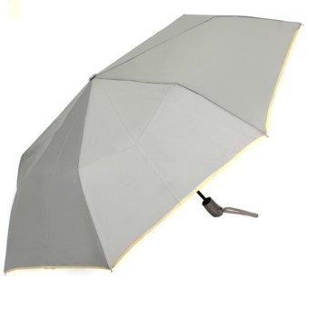 Harga London Fashion SPhil Plain Windproof Automatic Compact Umbrella (Grey)