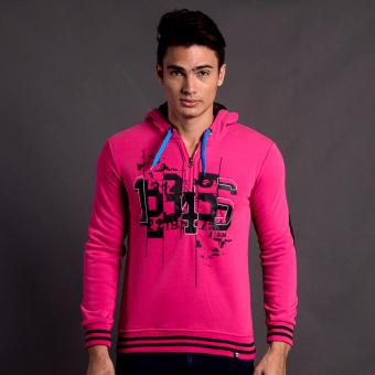 Harga Bum Men's Fleece Jacket (Acid Bright Rose)