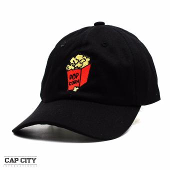 Harga Cap City Unisex Hip Hop Pop Corn Sports Cap (Black)