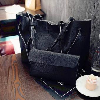 QF Korean custom leisure loose 2 In 1bag(BLACK) Price Philippines