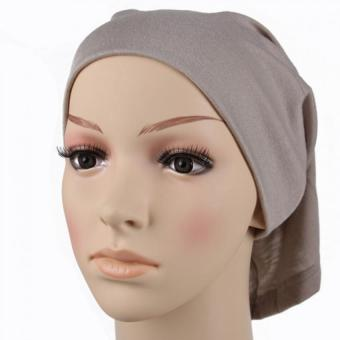 Islamic Muslim Women's Head Scarf Cotton Underscarf Hijab Cover Headwrap Bonnet grey - Intl - intl Price Philippines