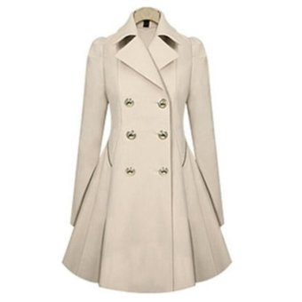 Jo.In New Fashion Women Casual Slim Long Wind Jacket Lapel Trench Outwear Coat - intl Price Philippines