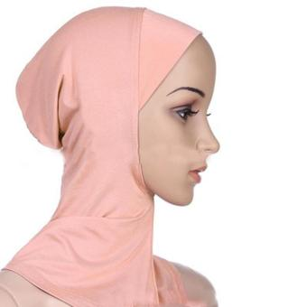 Under Scarf Hat Muslim woman Hijab Islamic Head Wear Neck Cover khaki - intl Price Philippines