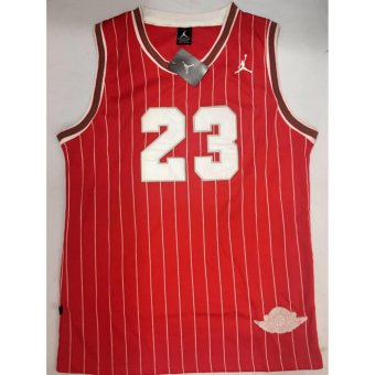 Harga Hoops Jordan 23 Jersey Shirt (Red Stripes)