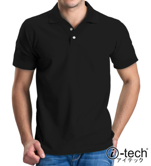 Harga I-tech Blank Polo Shirt (Black)