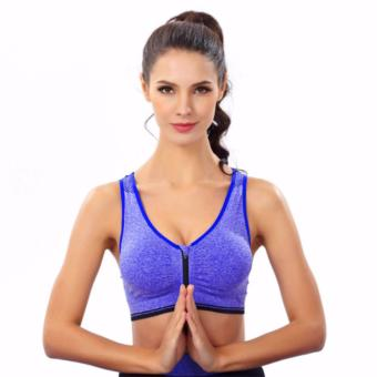 Treeco Fitness Front Zipper Sports Bra (Blue) Price Philippines