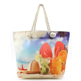 Harga London Fashion Summer Fresh Cool Beach Tote Bag